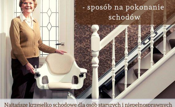 Krzesełko schodowe Homeglide – sposób na pokonanie schodów
